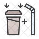 Coffee Cup And Straw Icon