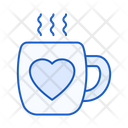 Coffee Date Coffee Cup Heart Icon