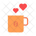 Coffee Cup Heart Icon