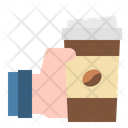 Hand Coffee Take Away Icon
