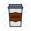 Coffee Glass Disposable Glass Papercup Icon