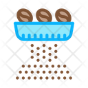 Coffee Beans Grinding Icon