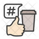 Coffee Hastag Like Hashtag Icon