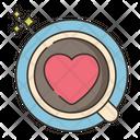Coffee Is Love Heart Love Icon