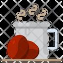 Coffee Bean Hot Icon