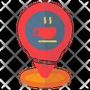 Pin Location Coffe Icon