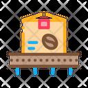 Coffee Production Conveyor Icon