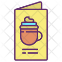 Imenu Card Coffee Menu Cafe Menu Icon