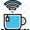 Coffee Mug Wifi Icon