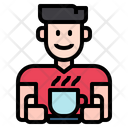 Man Avatar Hot Coffee Icon