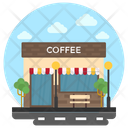 Cafe Coffee Shop Snack Bar Icon