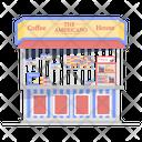 Coffee Shop Coffee Stall Food Cart Icon