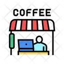 Remote Working Cafeteria Icon