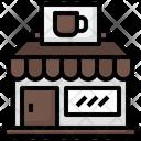 Cafe Coffee Shop Building Icon