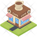 Hotel Coffee Shop Food Point Icon
