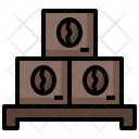 Coffee Stock Coffee Bag Production Icon