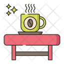 Coffee Table Hot Coffee Dating Icon