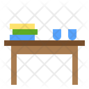 Coffee Table Cafe Table Dining Table Icon