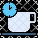 Coffee Time Clock Coffee Cup Icon