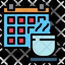 Calendar Coffee Cup Coffee Break Icon