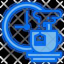Clock Hot Tea Cup Icon