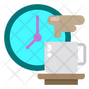 Clock Hot Coffee Cup Icon