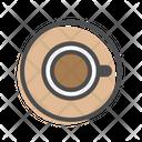 Coffee Top View Coffee Espresso Icon