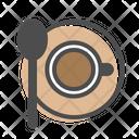 Coffee Top View Sendok Coffee Espresso Icon