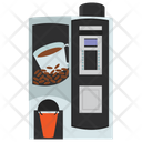 Coffee Vending Cappuccino Dispenser Vending Machine Icon