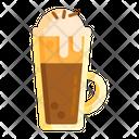 Coffee With Ice Cream Icon