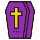 Coffin Death Cross Icon