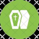 Coffin Casket Cross Icon