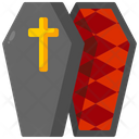 Coffin Death Frightening Icon