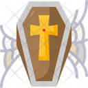 Coffin Death Frightening Icon