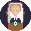 Funeral Flowers Rip Icon