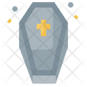 Coffin Spooky Frightening Icon