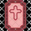 Coffin Rip Cross Icon