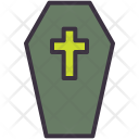 Coffin Casket Cross Icon