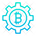 Bitcoin Setting Bitcoin Management Business Management Icon