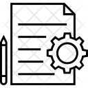 Cog Document File Icon