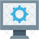 Cog Lcd Monitor Icon