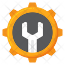 Cog And Wrench Icon