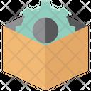 Cog Inside Box Icon