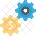 Cogs Customize Dollar Icon