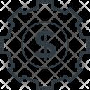 Cogwheel Dollar Investment Icon