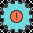 Cogwheel Alert Gear Icon