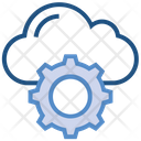 Cloud Storage Cogwheel Icon