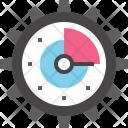 Cogwheel Clock Efficency Icon