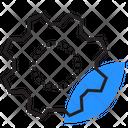 Cogwheel Gear Leaf Icon