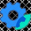 Cogwheel Leaf Eco Icon